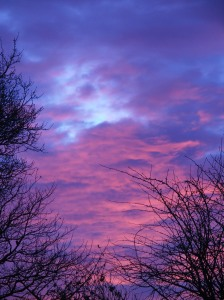 Red Sky in the morning... we knew then that trouble was brewing