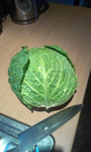 A week's worth of cabbage