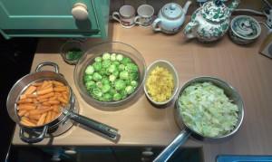 Home grown veg in the pot